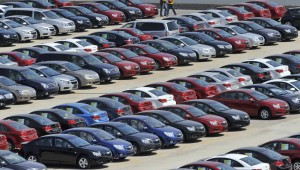 File photo of General Motors' new Chinese-made cars for domestic and foreign markets seen at a parking lot in Shenyang