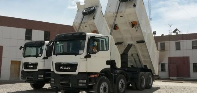 transporte de cimento na Bolívia